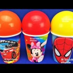 Cups and Balls Surprise Toys Disney Frozen TMNT Mickey Mouse Learn Colors Play Doh Balls Fun Kids