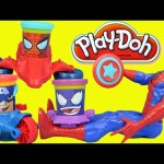 Marvel Spiderman Play-Doh Can-Heads Playset That Builds Webs and Vehicles Kids Toys