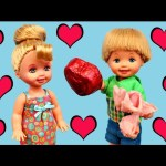 Barbie Doll Alex Has a School Crush & Gives Her a Valentine's Day Gift Kids Toys