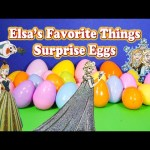 Opening Frozen Elsa's Favorite Surprise Eggs and Toys With the Assistant