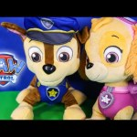 Paw Patrol Skye & Chase Talking Figures Toys Unboxing