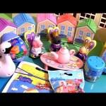 Nickelodeon Peppa Pig Weebles Toys Surprises Playdoh Stamp Secret House