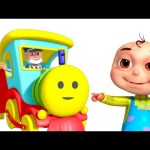 Five Little Babies Playing In A Toy Train | Nursery Rhymes & Kids Songs | 3D Rhymes For Children