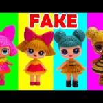Genie Opens LOL Surprise Dolls Fake Vs. Real
