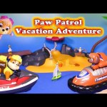 Paw Patrol Goes on a Vacation and have a Funny Adventure Toy Parody