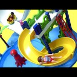 PLAYMOBIL Water Park with Slides Summer Fun playset unboxing toy review