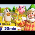 Animal Sounds at the Farm   Nursery Rhymes   ABCs and 123s   Little Baby Bum