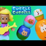 Bubble Guppies Stacking Cups Review With Molly Getting a New Play-Doh Outfit Kids Toys