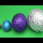 Learn Sizes with Surprise Eggs! Opening HUGE Colourful Chocolate Mystery Surprise Eggs! 34