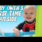 Letting Your Child Go Outside for the First Time – Owen Visits the Backyard Waterpark