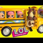 LOL Surprise Confetti Pop Series 3 Sloth Fingerling Bus Driver