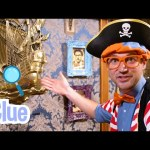 Blippi The Pirate Learns About Colors and Numbers at Kidd's Jewelry Heist | Educational Kids Videos