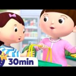 Lets Go SHOPPING Song! +More Nursery Rhymes and Kids Songs – ABCs and 123s | Little Baby Bum