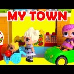 LOL Surprise Dolls Glitter My Town Lego Duplo Build
