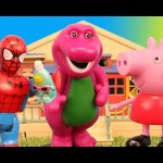 Peppa Pig Goes To The Barney School In This Toy Parody Kids Toys