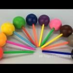 Rainbow Play Dough Lollipops