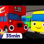 Ten Little Buses Song +More Nursery Rhymes and Kids Songs – ABCs and 123s | Little Baby Bum