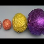 Learn Sizes with Surprise Eggs! Opening HUGE Colourful Chocolate Mystery Surprise Eggs! 25