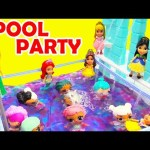 Princess Orbeez Pool Party With LOL Surprise Dolls