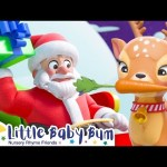 Santa's Rendeeirs – Christmas Songs for Kids | Nursery Rhymes | ABCs and 123s | Little Baby Bum