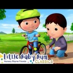 Learn How To Ride A Bike Song | Nursery Rhyme & Kids Song – ABCs and 123s | Little Baby Bum