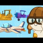 Factory Cartoons For Kids | Jet, Forklift, Bulldozer & More  | Finley's Vehicle Factory