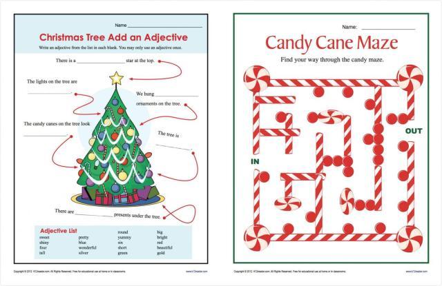 Christmas Worksheets For Preschool