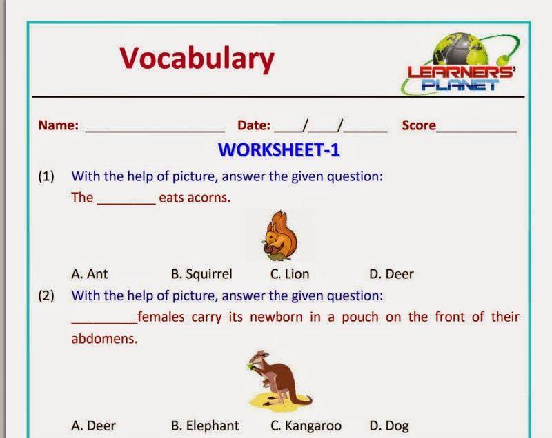 English Worksheets For Grade 1 Pdf Free