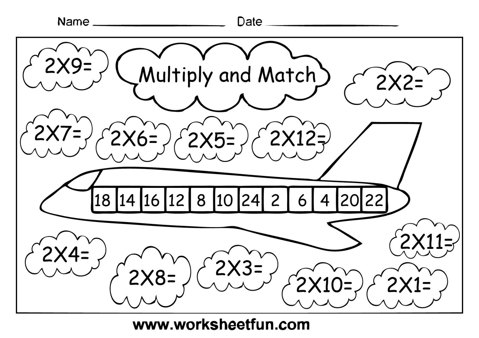 Free Printable Multiplication Worksheets Color By Number