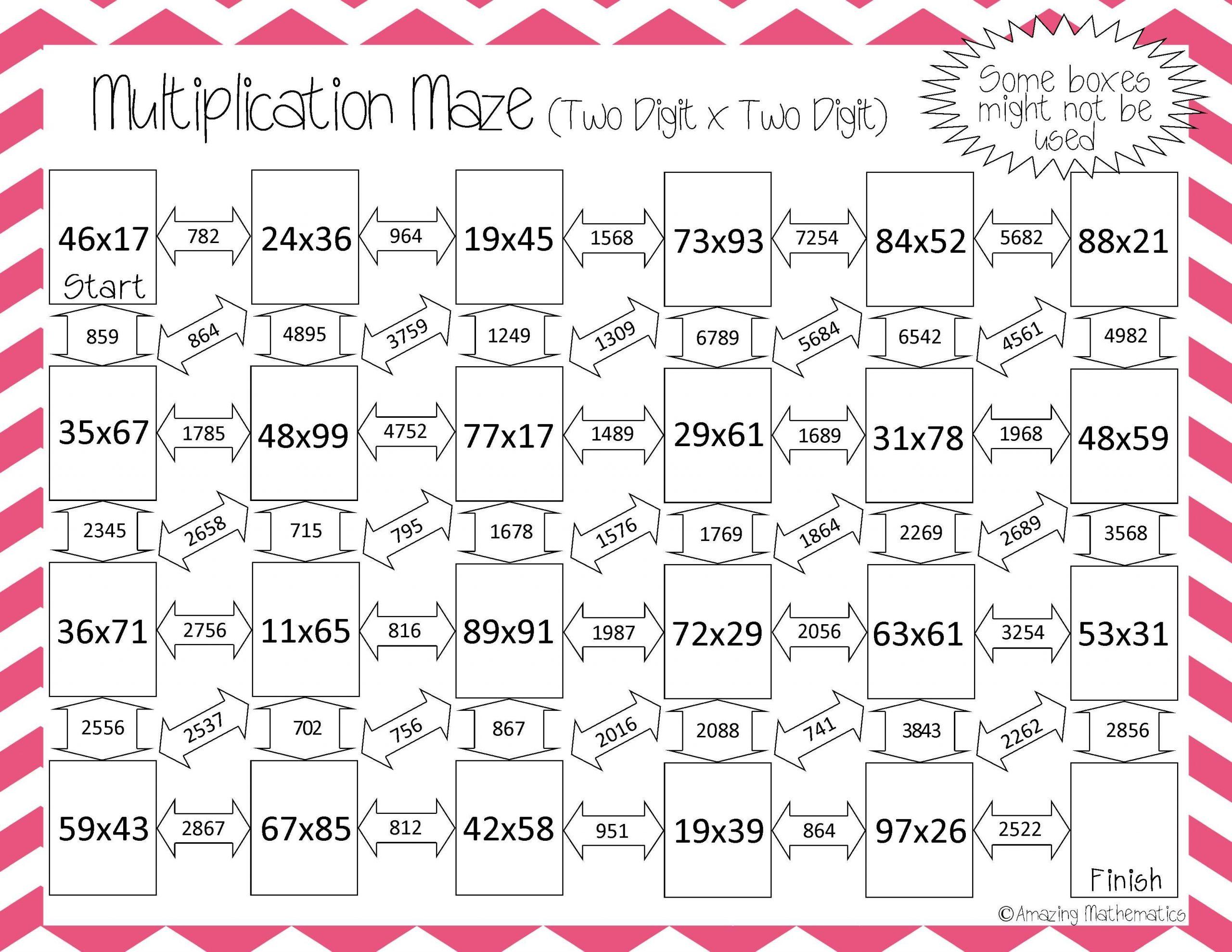 Multiplication Worksheets 2nd Grade Printables