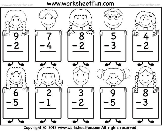Subtraction Worksheets 1