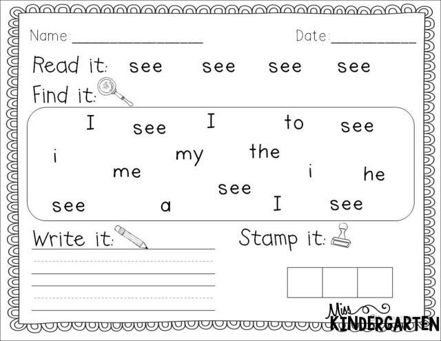Worksheets For Kindergarten Letters