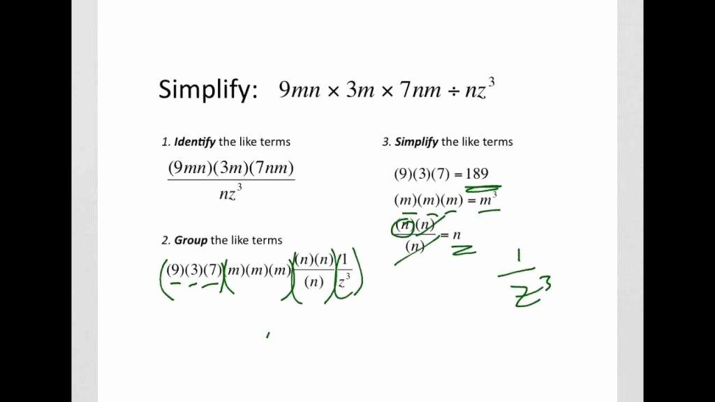 Cross Multiplication Worksheet Kuta