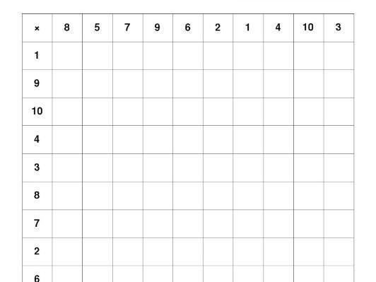 Multiplication Jumble Worksheet 2