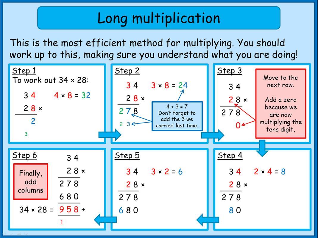Multiplication Worksheets Big Numbers 2