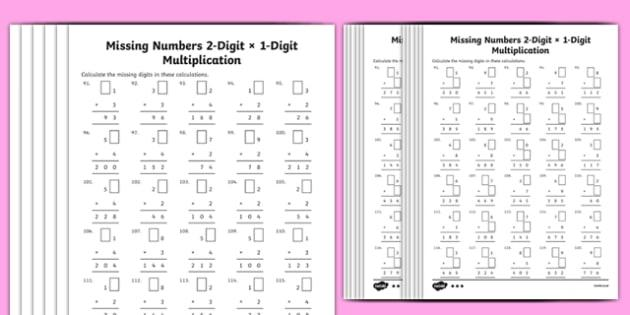 Multiplication Worksheets Download Free 2