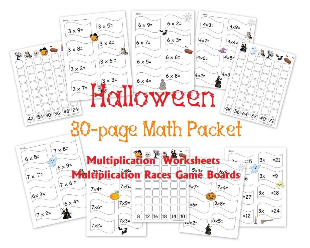 Multiplication Worksheets Halloween 1