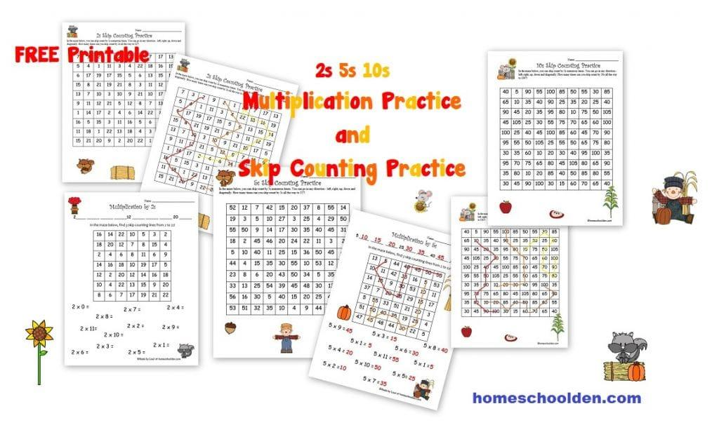 Multiplication Worksheets Homeschool 1