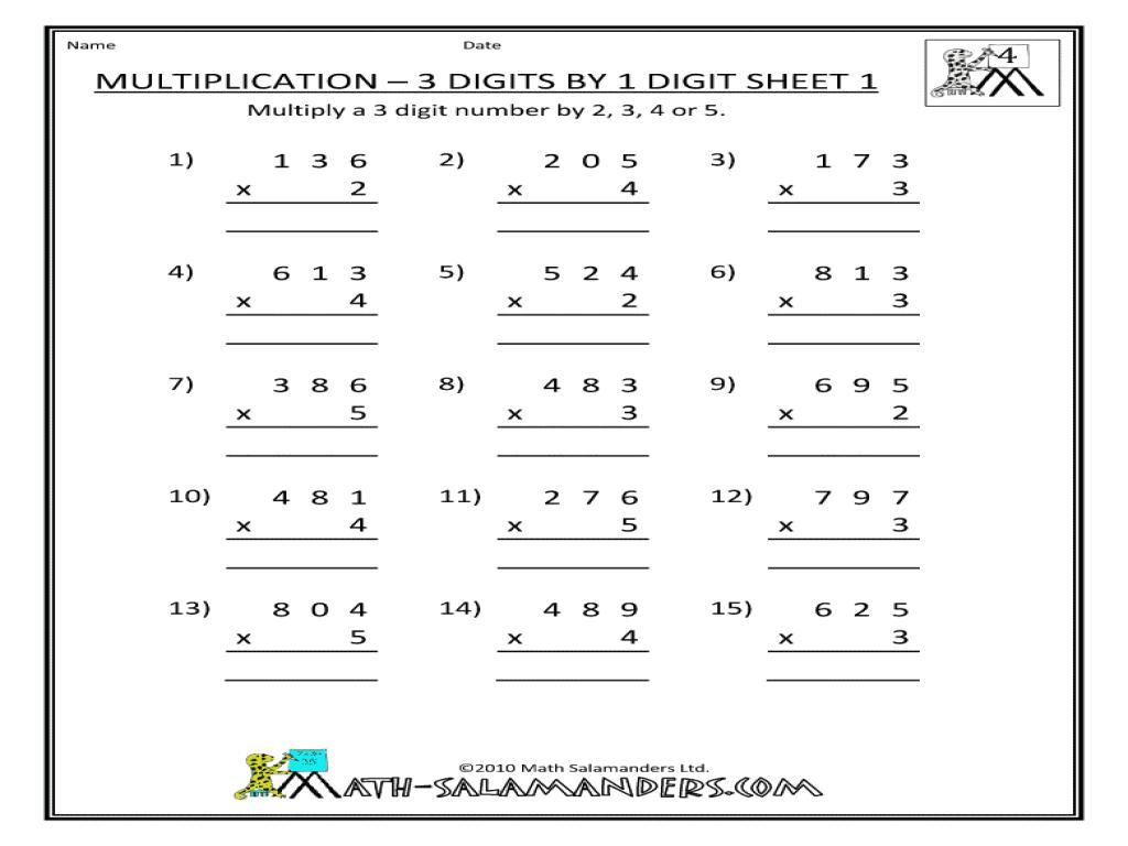 Multiplication Ladder Worksheets 7