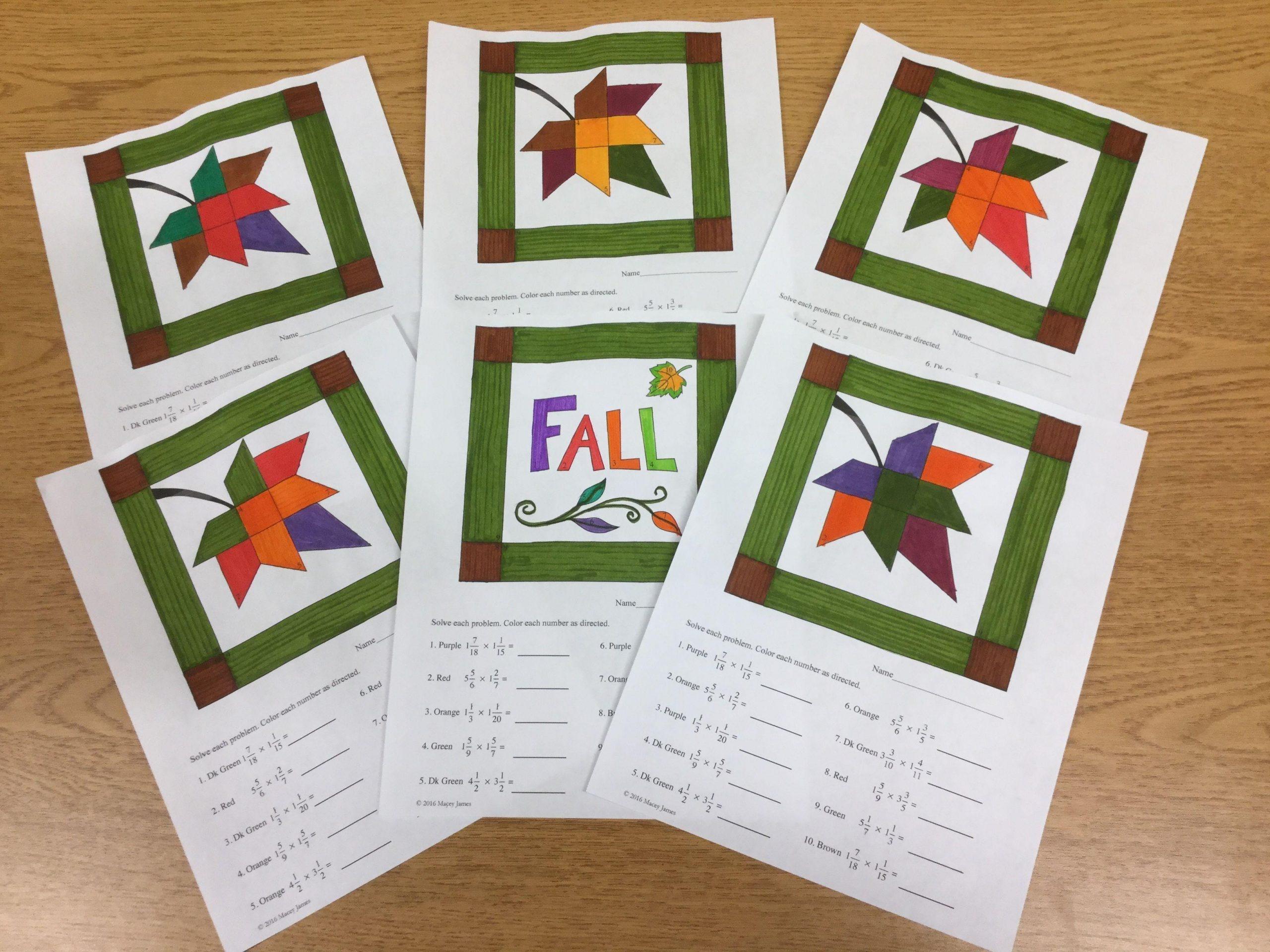Multiplication Quilt Worksheet 1