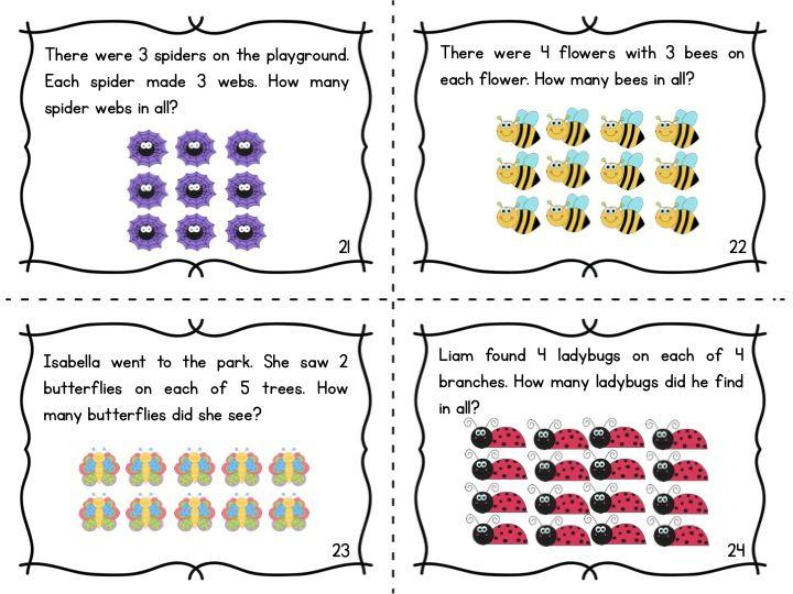 Multiplication Using Arrays Worksheets Pdf
