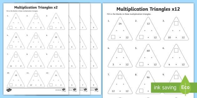 Multiplication Worksheets 2 To 12
