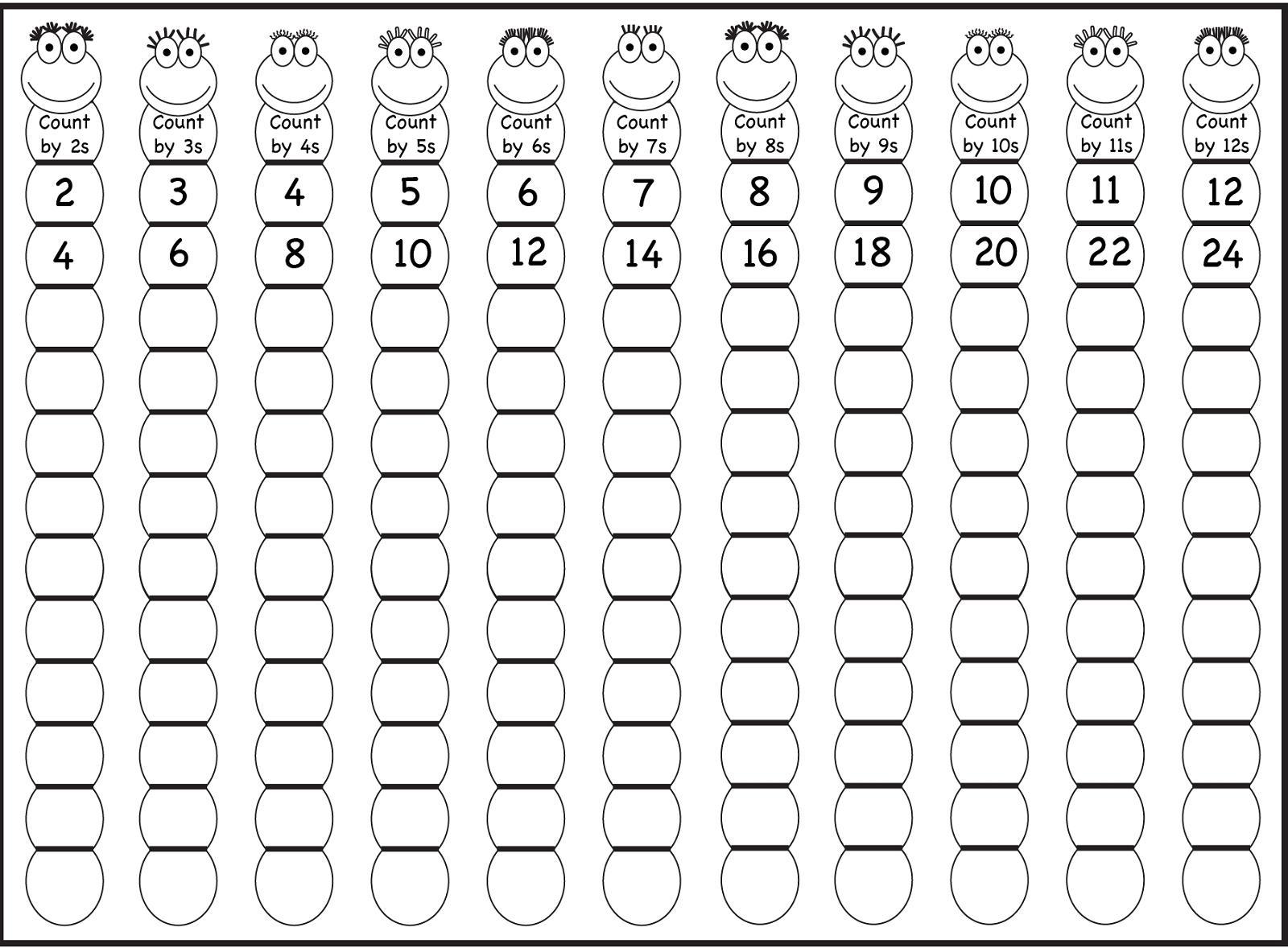 Multiplication Worksheets Level 1 8
