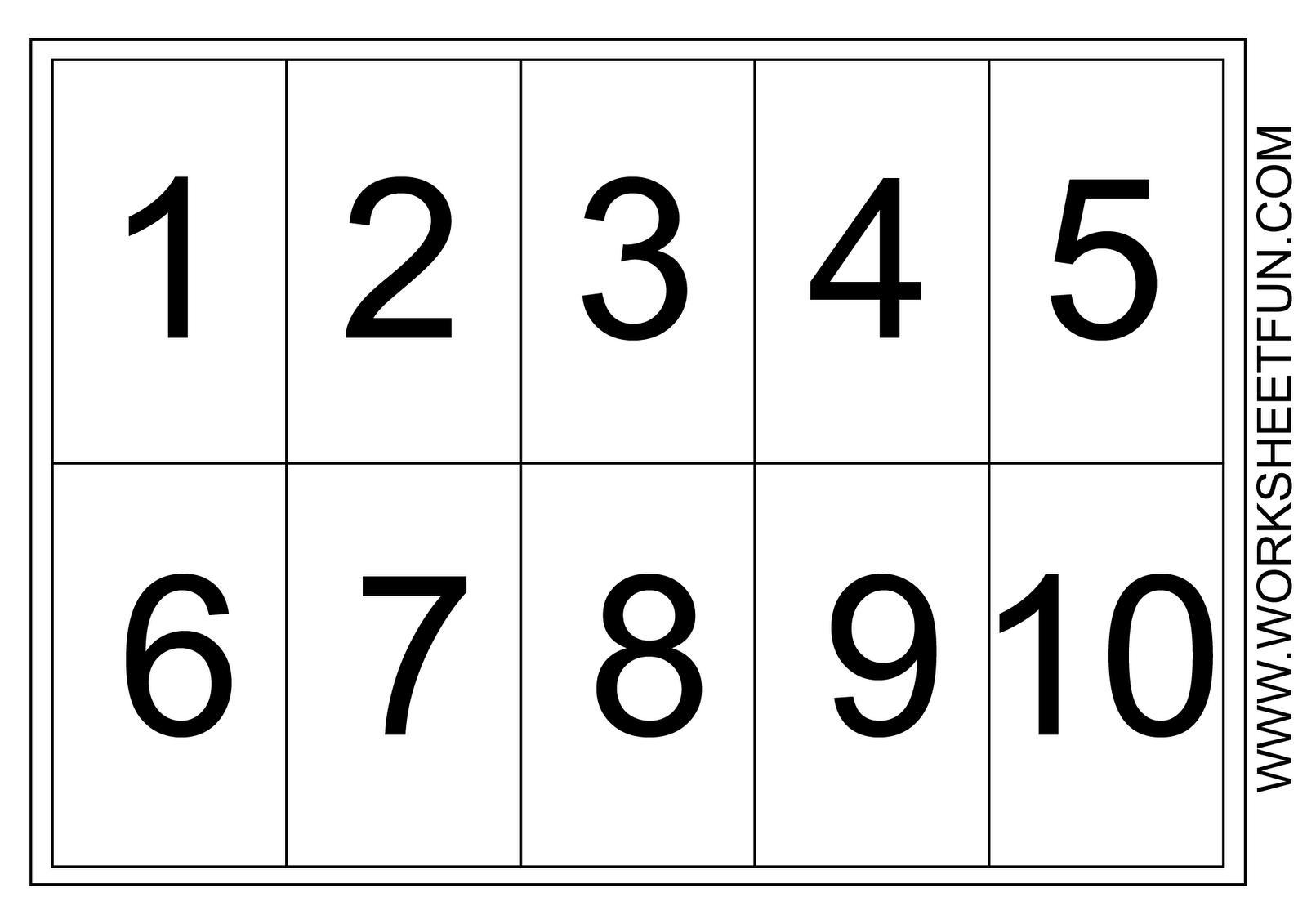 Multiplication Worksheets Numbers 1-10 6