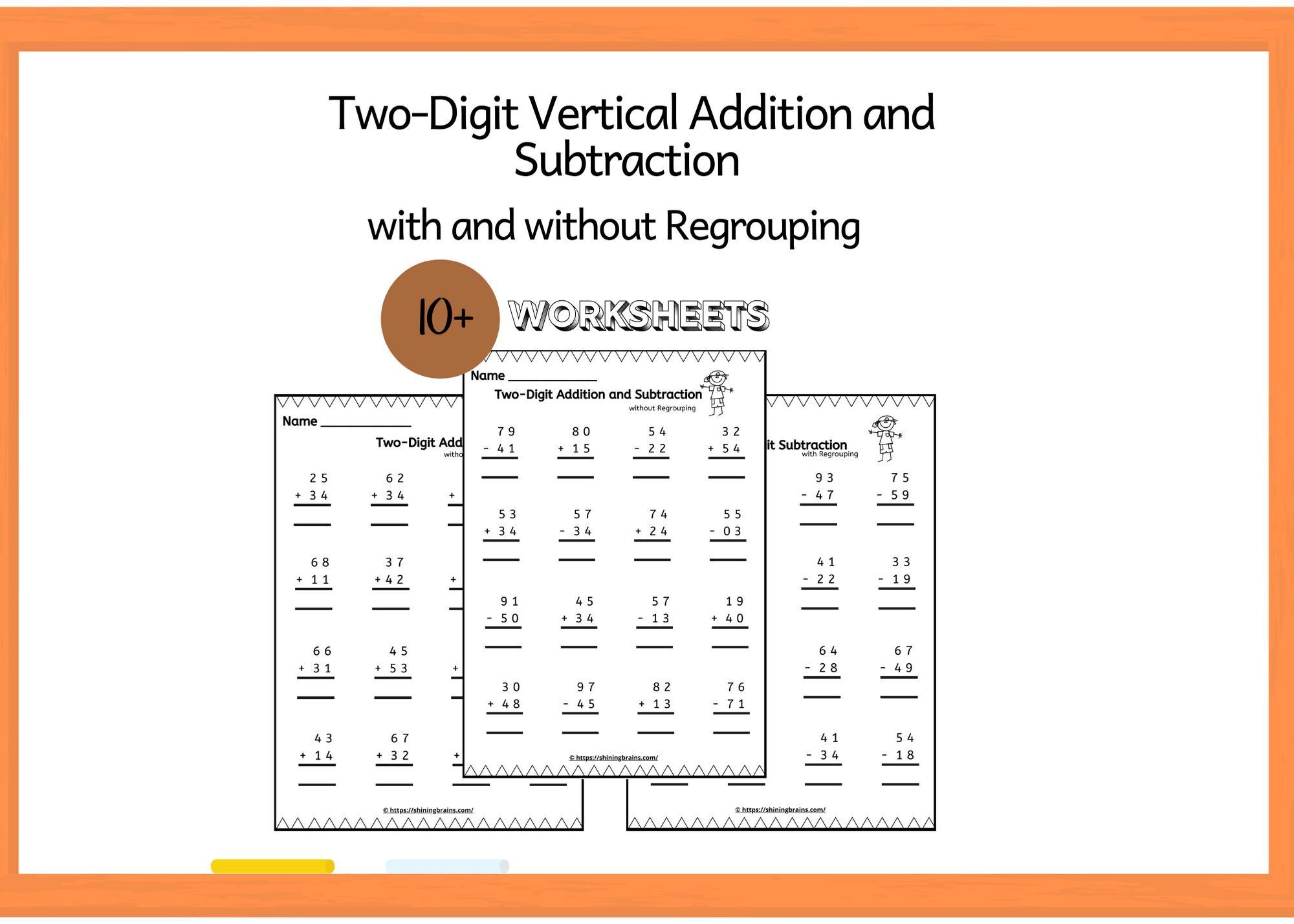 Vertical Algorithm Multiplication Worksheets