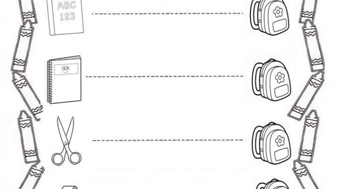 Back To School Worksheets For Preschool