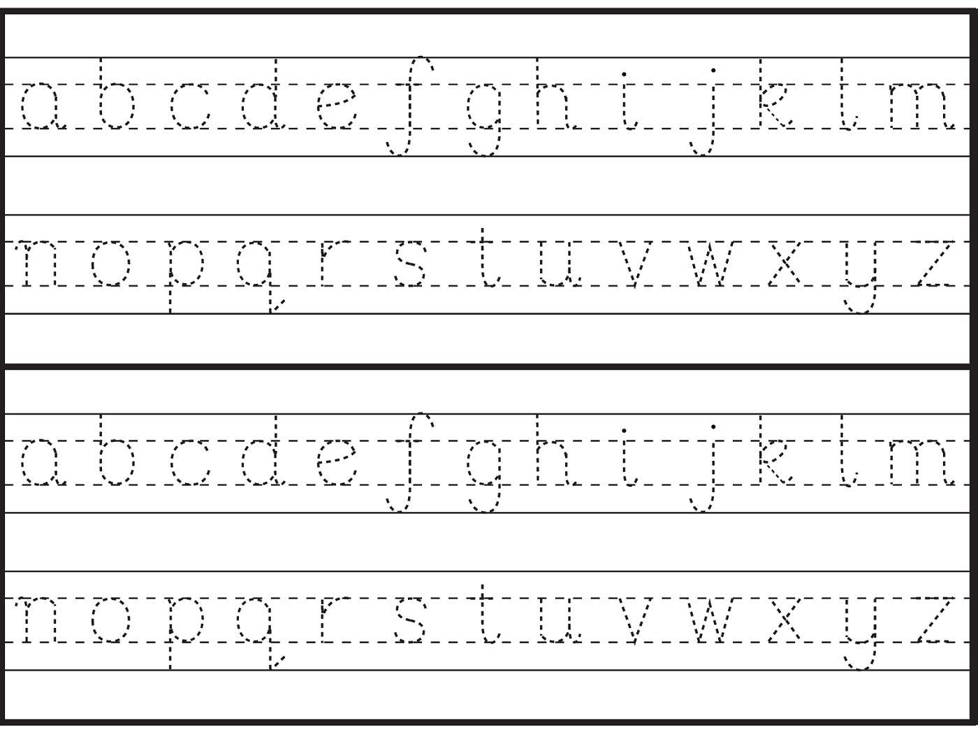 Free Preschool Traceable Alphabet Worksheets