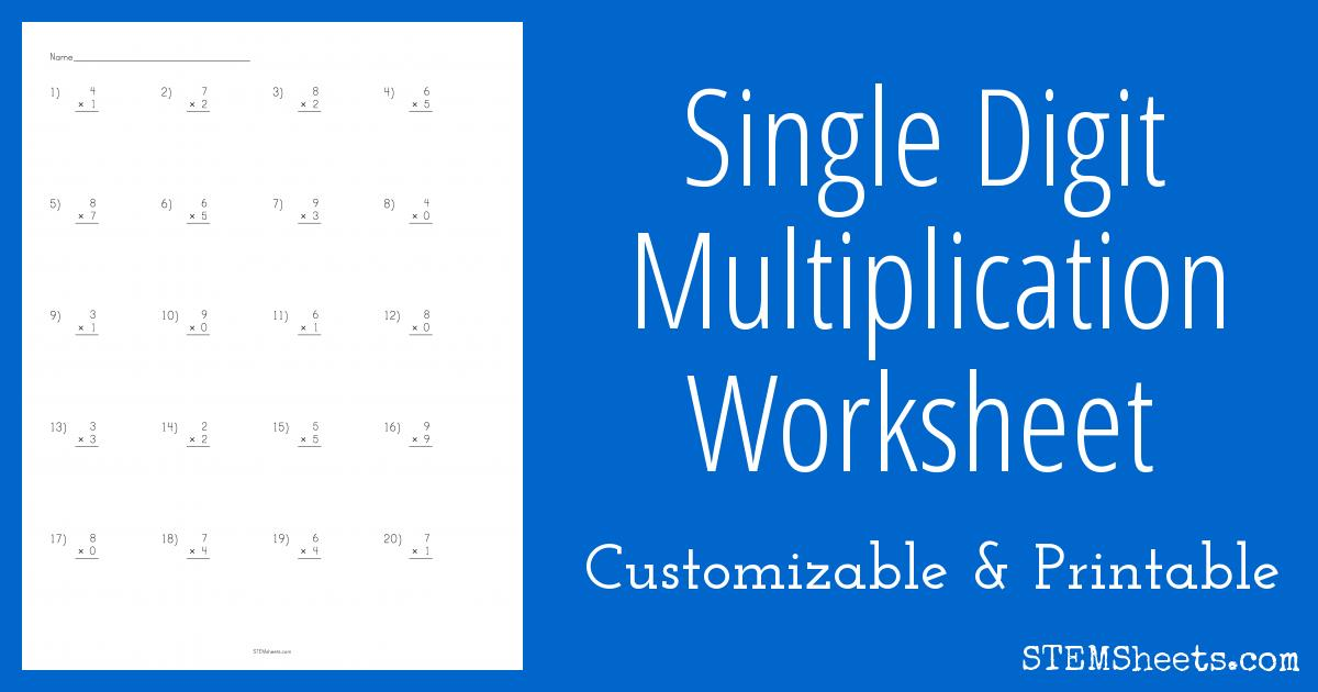 Multiplication Vertical Worksheets Answer Key 5