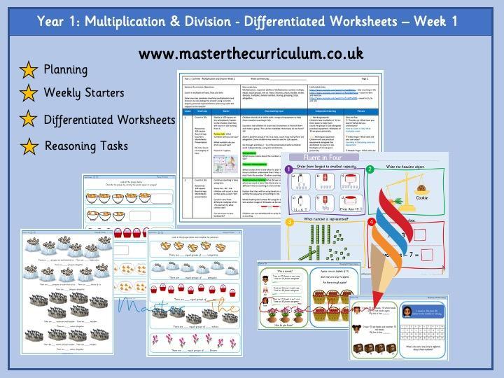 Multiplication Worksheets Grade 1 Pdf
