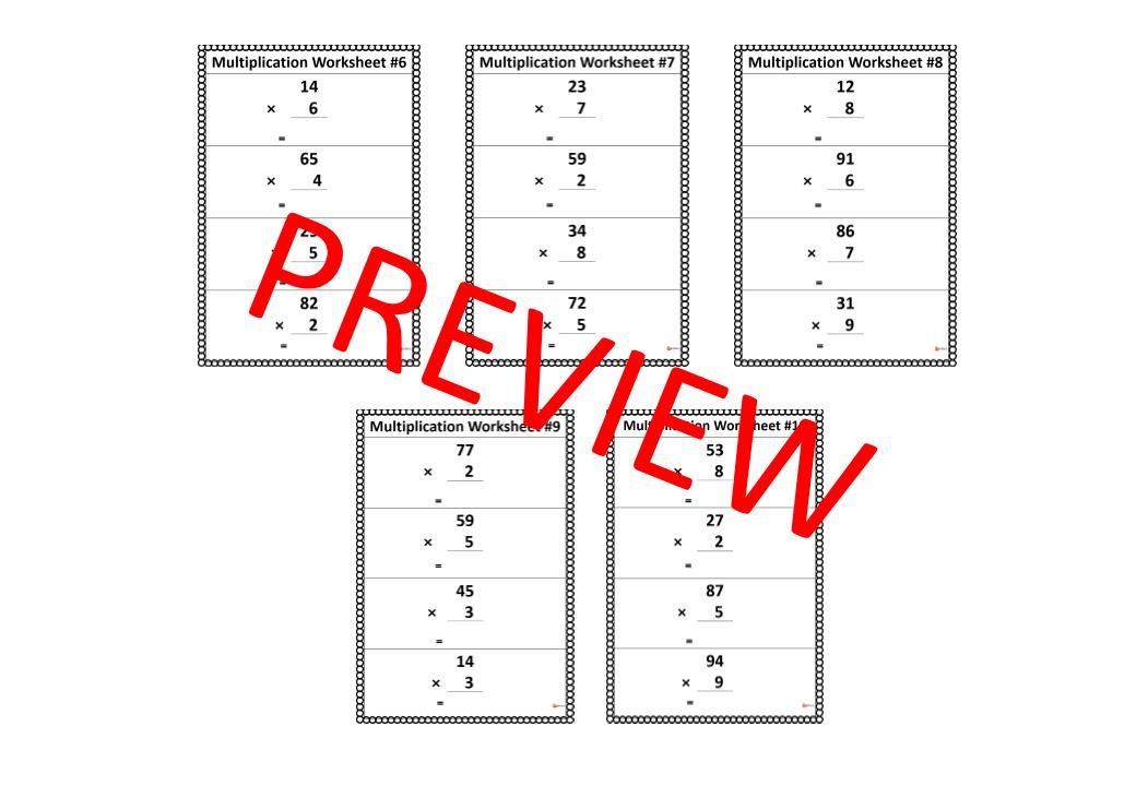 Multiplication Worksheets X1 And X 0